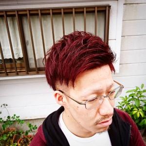 ベリーショート ツーブロック アシメ メンズ 大阪 難波 美容室 理容室 リレーション