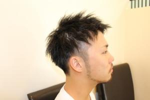ツイストパーマ ツーブロック メンズ ショート 短髪 黒髪