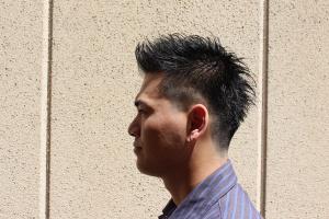 フェードカット メンズ ビジネス ショート 大阪 難波 浪速区 リレーション