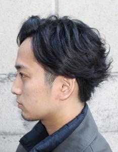 リバースアップバング メンズ 大阪 難波 メンズ美容室 理容室 メンズサロン リレーション
